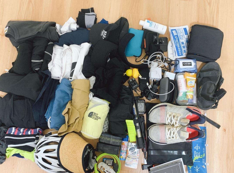 自転車日本一周の荷物