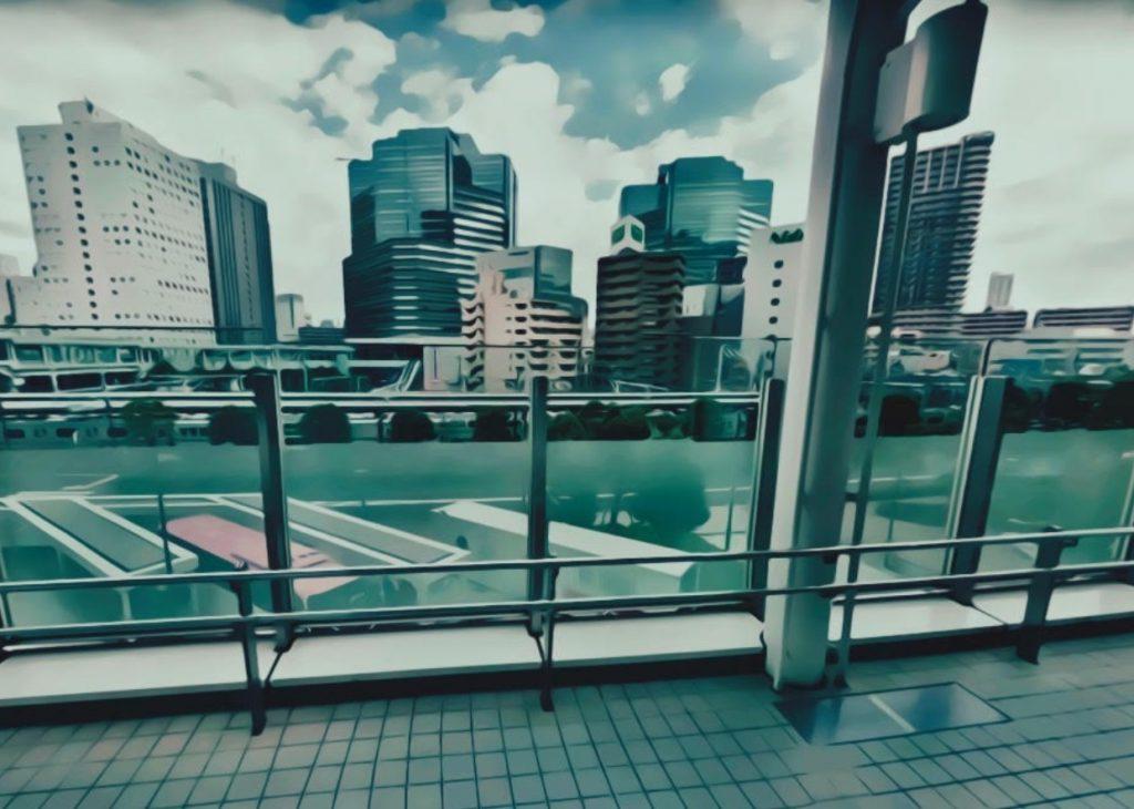 大崎駅西口ペデストリアンデッキ