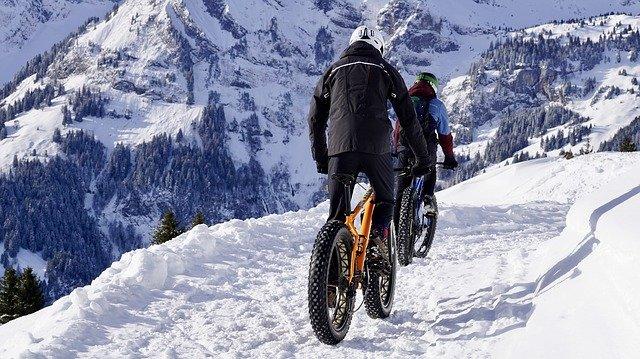 自転車,冬