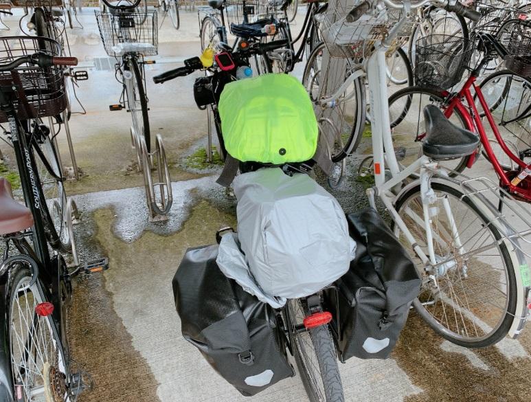 自転車,雨具装備