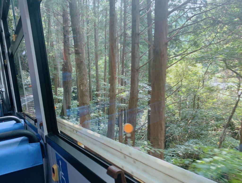 足摺岬から土佐清水行きのバス