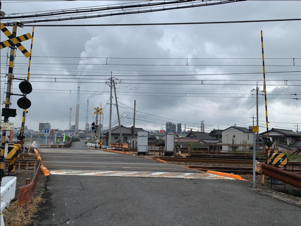 徳山の工場地帯