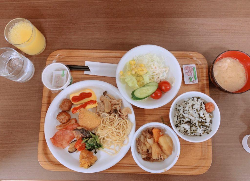 ホテルアルファーワン岩国の朝食